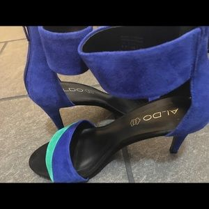ALDO  suede color block heels